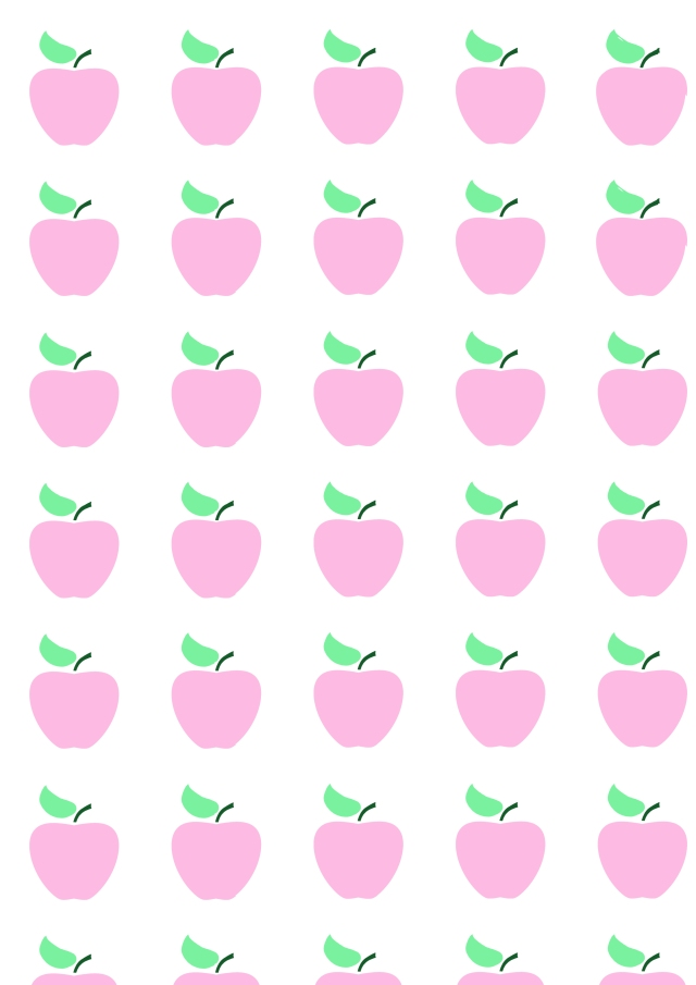 Papier cadeau pommes