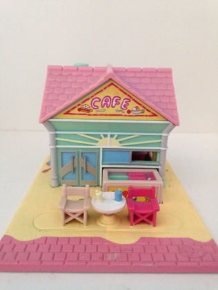 Polly pocket vintage café plage