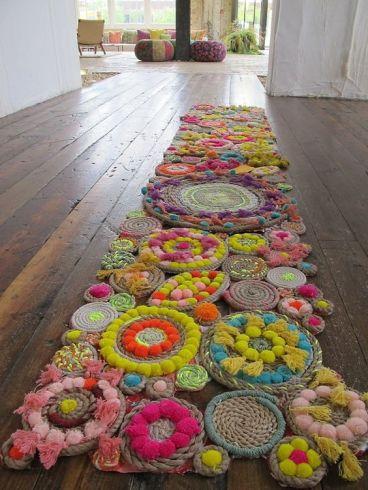 Carpette fleurs