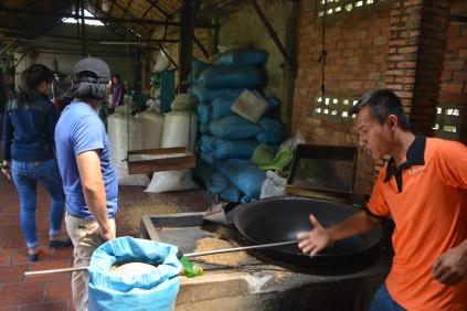 Fabrication riz soufflé