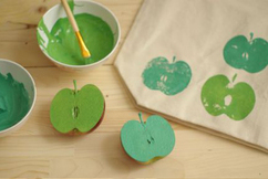 Tote bag pomme