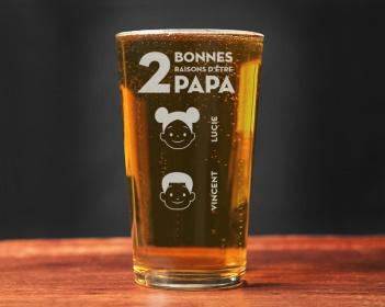 Verre bière personnalisé