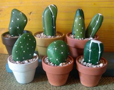 Galet cactus
