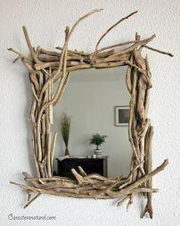 Miroir bois flotté