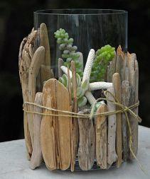 Vase bois flotté