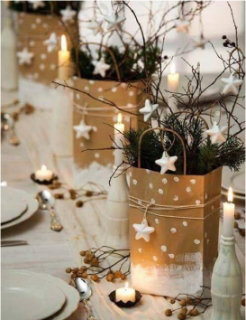 table-de-noel-or