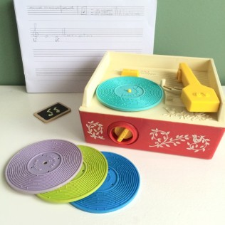 tourne-disque-fisher-price-vintage