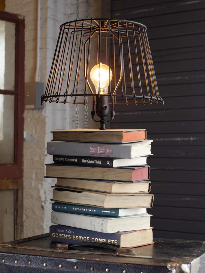 fabriquer lampe de chevet. Black Bedroom Furniture Sets. Home Design Ideas